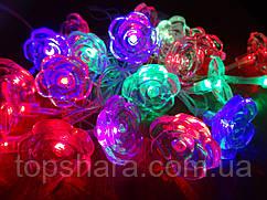 """Гирлянда RGB """"Цветочки"""", 4м, 20LED, IP20"""