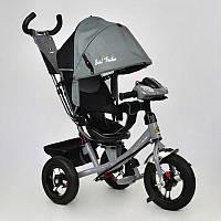 Велосипед 3-х кол. 7700 В - 6230 (1) /СЕРЫЙ/ Best Trike поворотное сидение, надувные колеса