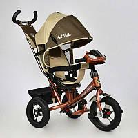 Велосипед 3-х кол. 7700 В - 6450 (1) /ШОКОЛАДНО-БЕЖЕВЫЙ/ Best Trike поворотное сидение, надувные колеса
