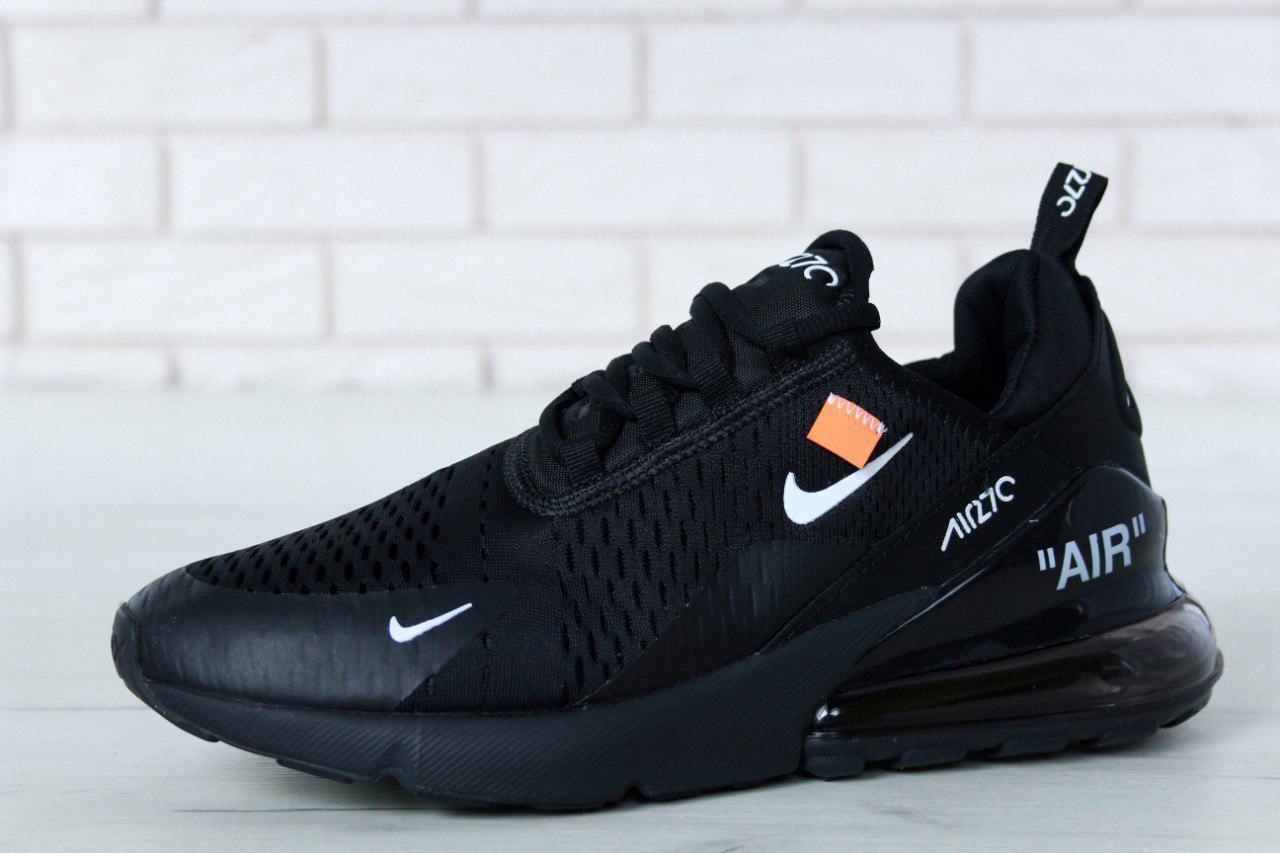 ebe068ecd Мужские кроссовки Nike Air Max 270 Total Black (в стиле Найк Аир Макс)  черные