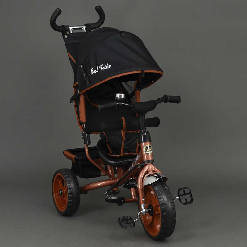 Велосипед 6570 (1) 3-х кол. /БРОНЗОВЫЙ/ Best Trike, переднее колесо 12 дюймов d=28см., задние 10 дюймов d=24см., пена