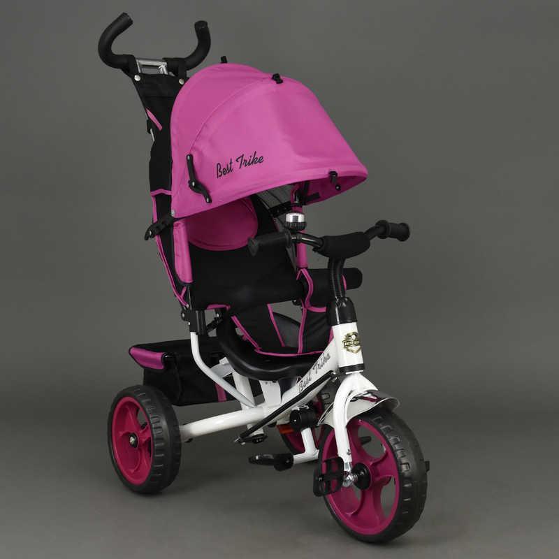 Велосипед 6570 (1) 3-х кол. /РОЗОВЫЙ/ Best Trike, переднее колесо 12 дюймов d=28см., задние 10 дюймов d=24см., пена