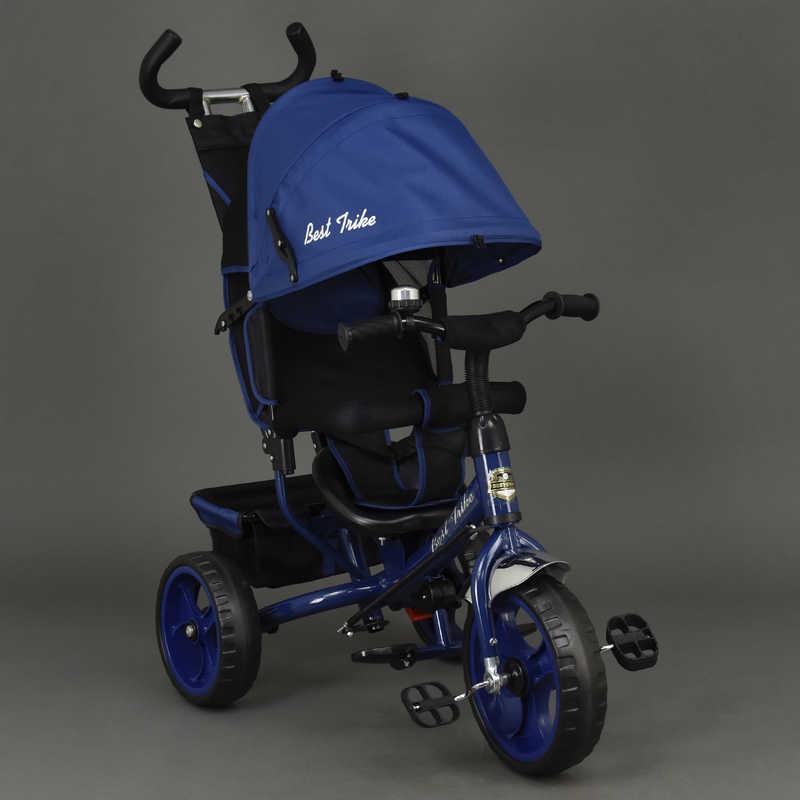 Велосипед 6570 (1) 3-х кол. /СИНИЙ/ Best Trike, переднее колесо 12 дюймов d=28см., задние 10 дюймов d=24см., пена