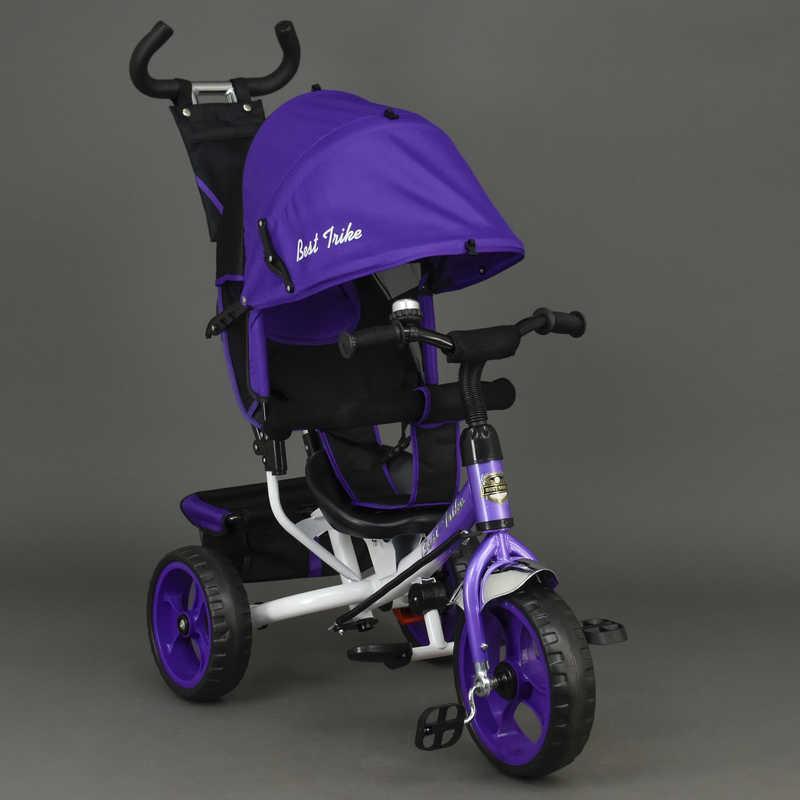 Велосипед 6570 (1) 3-х кол. /ФИОЛЕТОВЫЙ/ Best Trike, переднее колесо 12 дюймов d=28см., задние 10 дюймов d=24см., пена