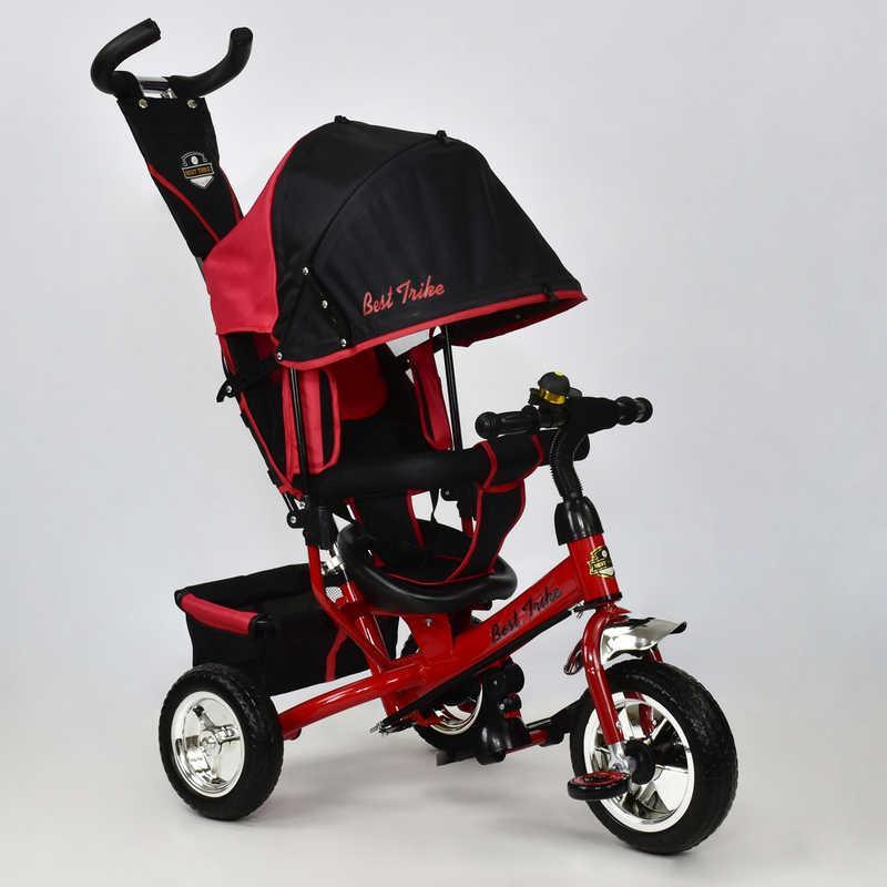 Велосипед 6588 - 1570 (1) /КРАСНЫЙ/ Best Trike колесо пена, переднее колесо d=25см., задние d=20см.