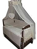 """Акция! Кроватка маятник """"Малыш Люкс"""" с ящиком матрас кокос постельный набор 8 эл., фото 2"""