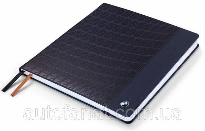 Оригинальный большой блокнот BMW Notebook, Large, Dark Blue (80242454637)