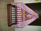 """Акция! Кроватка маятник """"Малыш Люкс"""" с ящиком матрас кокос постельный набор 8 эл., фото 5"""