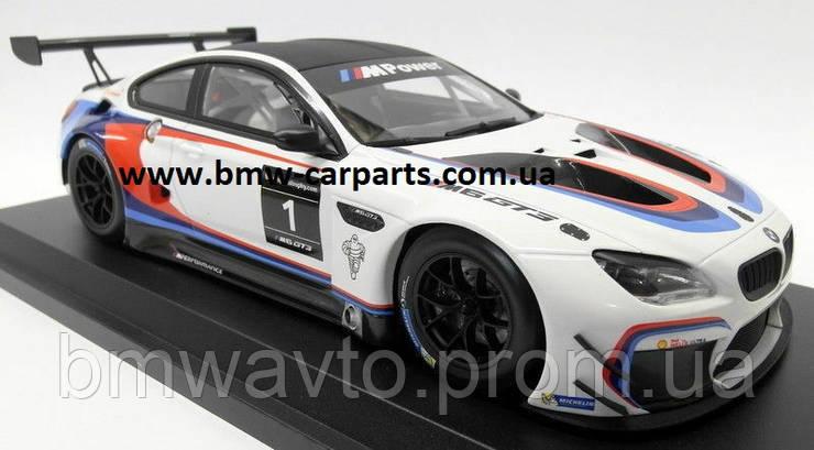 Модель BMW M6 GT3 (F13), White, Scale 1:18, фото 2