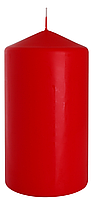 Декоративная свеча цилиндр sw80/150 красная BISPOL (15 см)