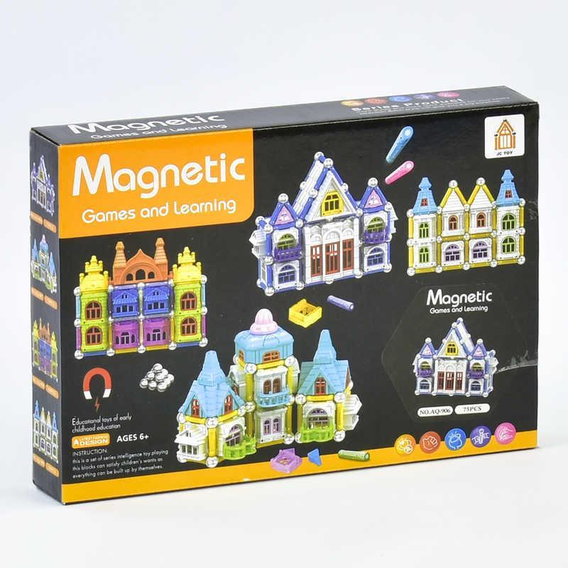 Конструктор магнитный Замок AQ - 906 (72) 75 деталей,в коробке