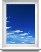 Глухое пластиковое окно Рехау  800 х 1400 мм