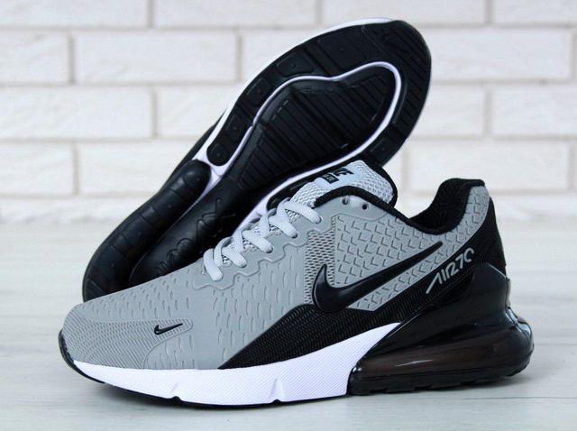929a3c04 Мужские кроссовки Nike Air Max 270 (в стиле Найк Аир Макс) серые ...
