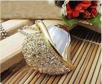 Флешка Сердечко с бриллиантиками