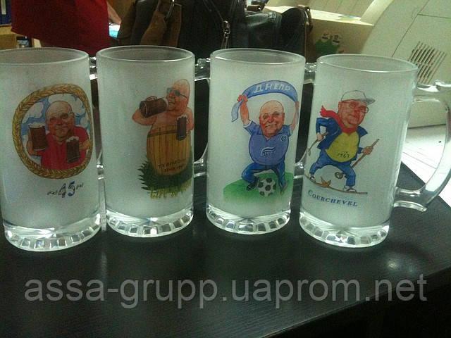 Печать фото на пивных бокалах