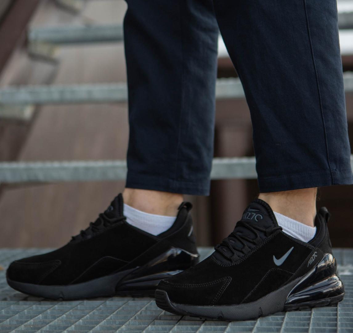 3d08c5e5 Мужские кроссовки Nike Air Max 270 (2019) черные топ реплика - Интернет -магазин