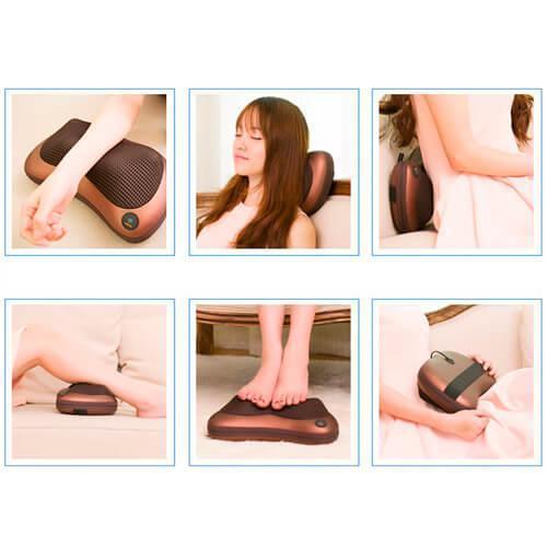 Массажная подушка для шеи и тела автомобильная с подогревом масажер