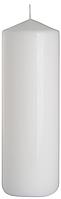 Декоративная свеча цилиндр sw80/200 белая BISPOL (20 см)