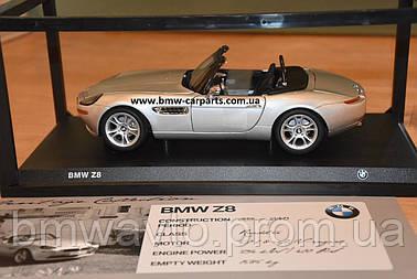 Коллекционная модель BMW Z8 Convertible (E52), Heritage Collection, 1:18 scale, Silver, фото 2