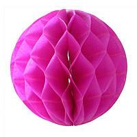 Бумажный шар соты розовый, 20 см
