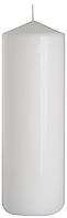 Декоративная свеча цилиндр sw80/250 белая BISPOL (25 см)