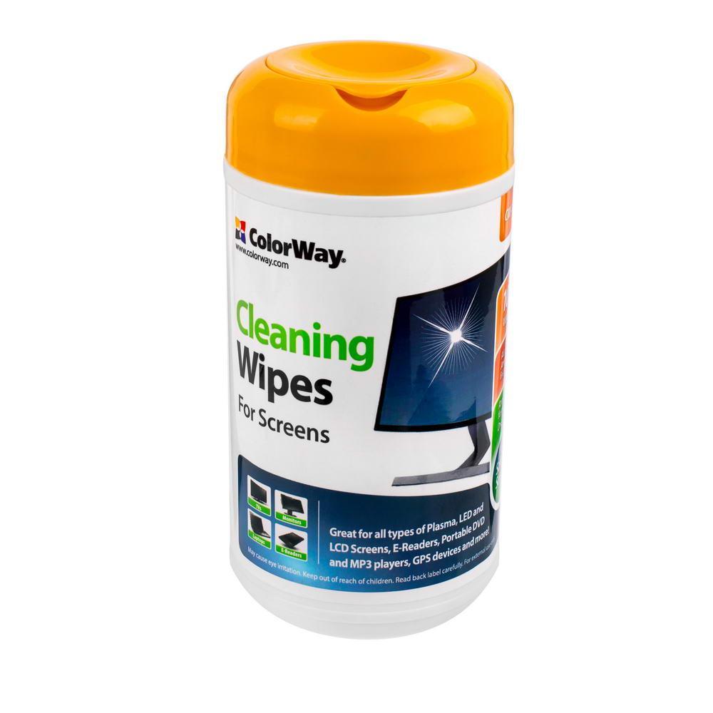 Салфетки чистящие ColorWay для TFT/LCD туба 100 шт CW-1071