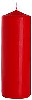 Декоративная свеча цилиндр sw80/250 красная BISPOL (25 см)