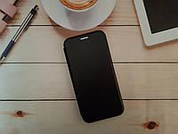 Чехол-книжка для Samsung J6 2018 Galaxy J600f Premium Leather (экокожа + силикон) черный