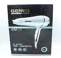 Фен для укладки волос c насадкой Gemei GM108, мощностью 2000w - 2400w