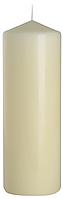 Декоративная свеча цилиндр sw80/250 кремовая BISPOL (25 см)