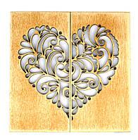 """Дерев'яна листівка Валентинка """"Моє серденько"""""""