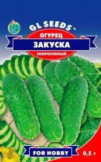 Огурец Закуска, пакет 0,5г - Семена огурцов, фото 2