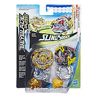 Бейблейд Galaxy Zeutron Z4, Gold-X Batromoth B4 Beyblade Burst Turbo Slingshock Dual Pack Hasbro