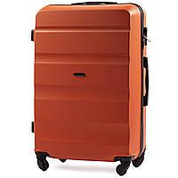 Малый пластиковый чемодан Wings AT01 на 4 колесах оранжевый, фото 1