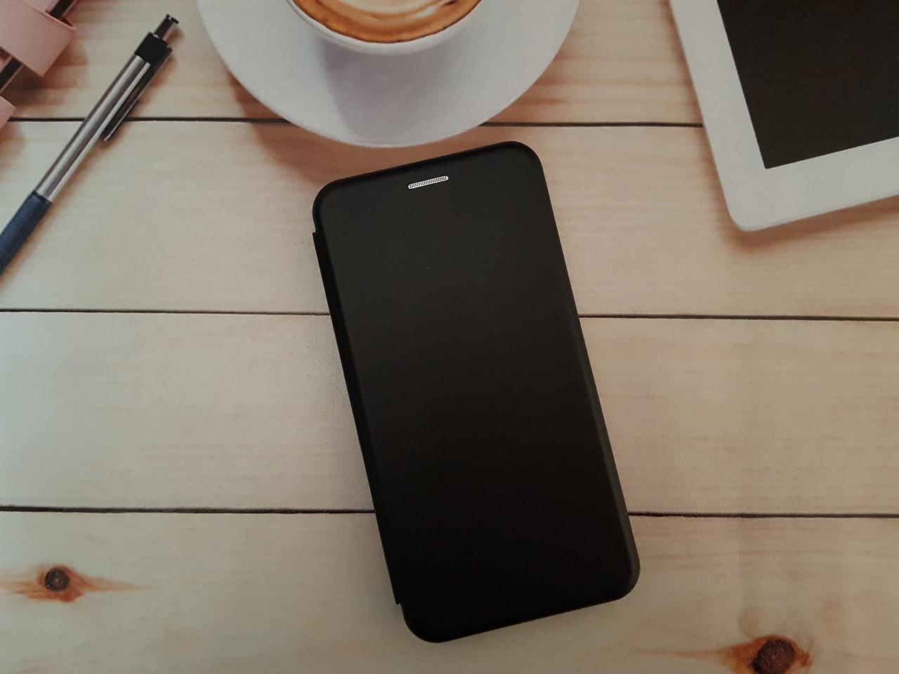Чохол-книжка для Xiaomi Redmi 5 Premium Leather (екошкіра + силікон) чорний