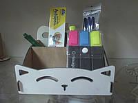 Органайзер (подставка для ручек, карандашей и кистей) Кот