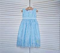 Голубое нарядное платье для девочки код: 7010, размеры: от 80 до 134