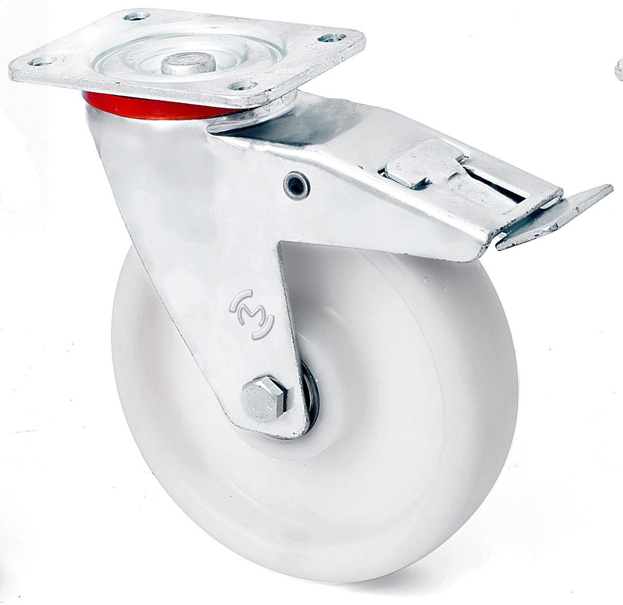 Поворотные большегрузные колеса из полипропилена с тормозом 2304-LR-200-B