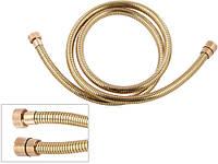 Шланг для душа 333 CNDR золото силиконовый спиральный 1,5m