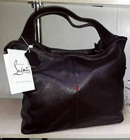 Стильная кожаная мягкая сумка-хобо
