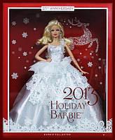 Кукла Барби коллекционная Праздничная 2013 (2013 Holiday Barbie Doll), фото 4