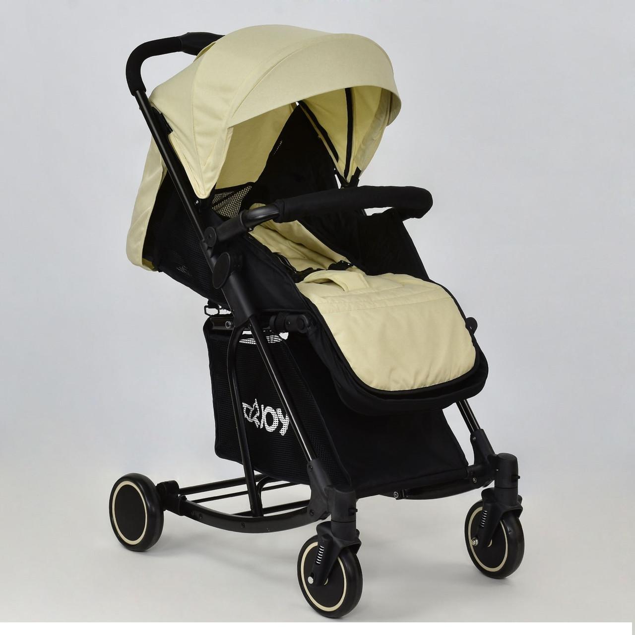 Детская коляска Т 609 JOY с функцией качания бежевая