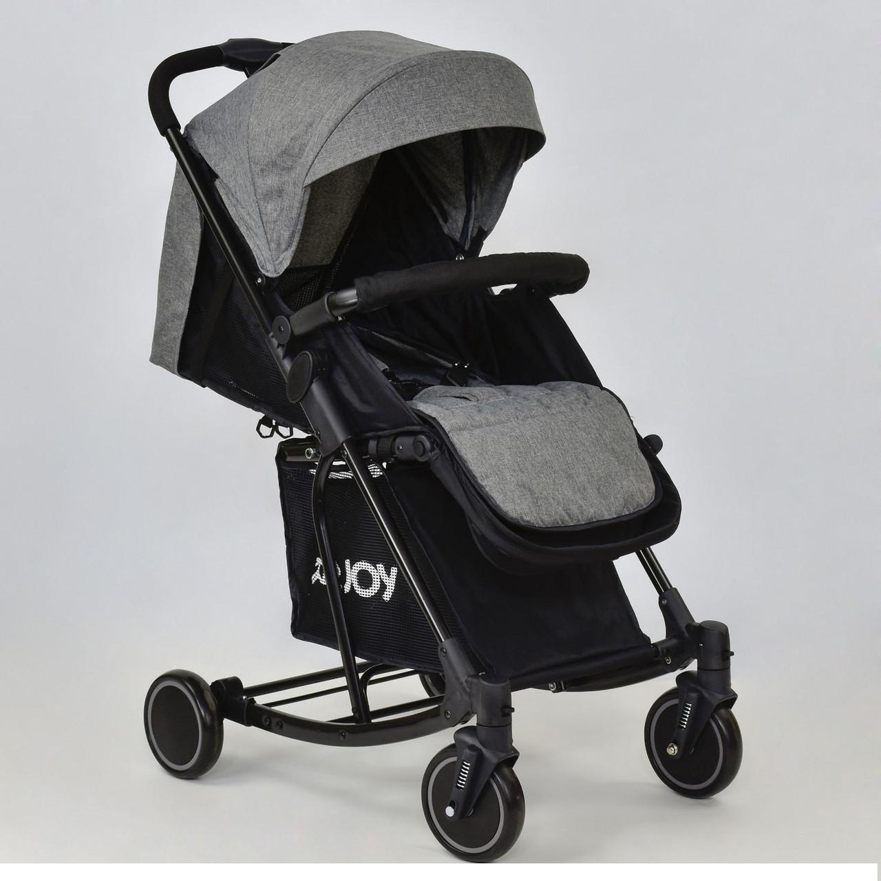 Детская коляска Т 609 JOY с функцией качания серая