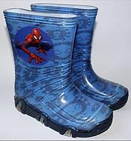 Резиновые сапожки Disney 25-32 размер Человек паук