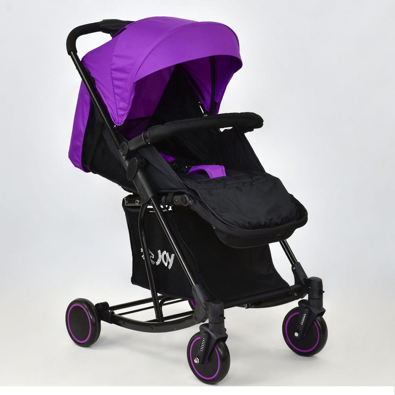 Детская коляска Т 609 JOY с функцией качания фиолетовая
