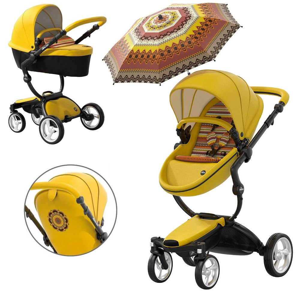 Детская коляска Mima Xari Yellow Limited Edition