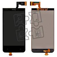 Дисплей для HTC Desire 300, HTC Desire 301e, модуль в сборе (экран и сенсор), черный, оригинал