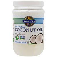 """Кокосовое масло Garden of Life """"Coconut Oil Raw Extra Virgin"""" первого отжима (414 мл)"""