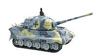 2711135312361 Танк микро р/у 1:72 King Tiger со звуком (серый, 49MHz)
