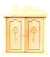 """Деревянная ключница настенная """"Надежный дом"""", ключница в форме домика"""